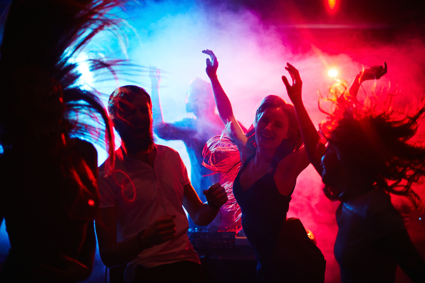 Young people hanging around in nightclub